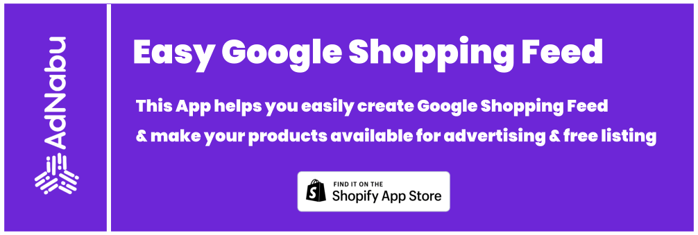 Google shopping Feed Shopify
